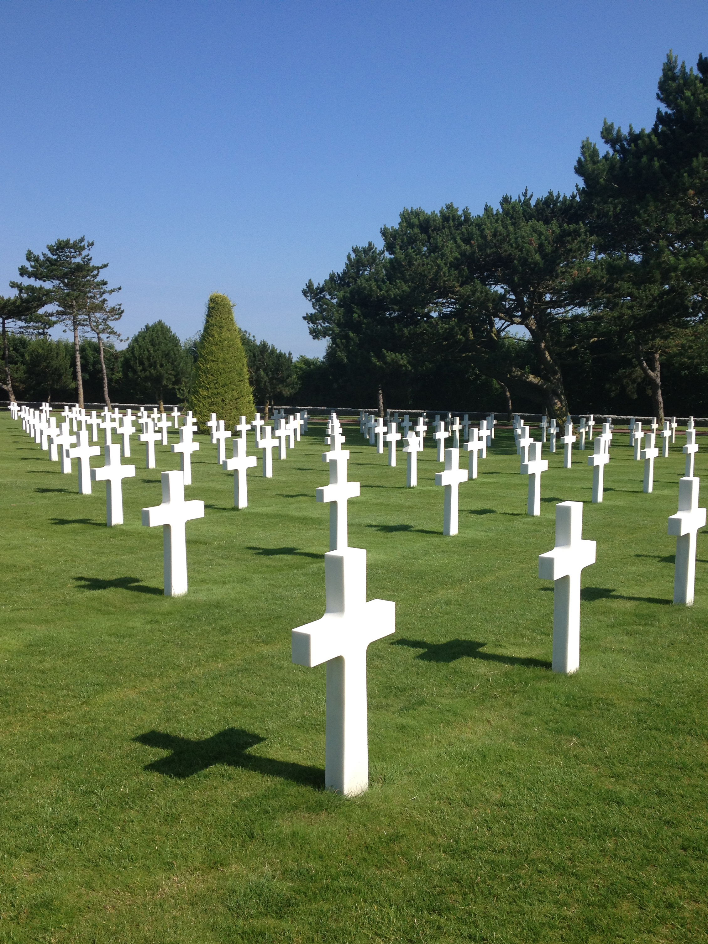 I traveled to France with my choir and we were given the honor of singing at Normandy on the Fourth of July for the 70th anniversary of D-Day.