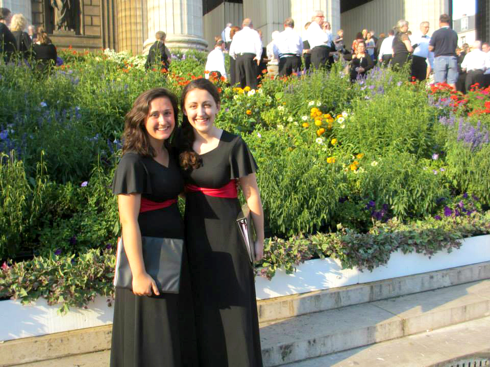 My cousin and I traveled to France with the York County Honors Choir. We were invited to sing at several sites around the country including La Madeleine, which is where this photo was taken.