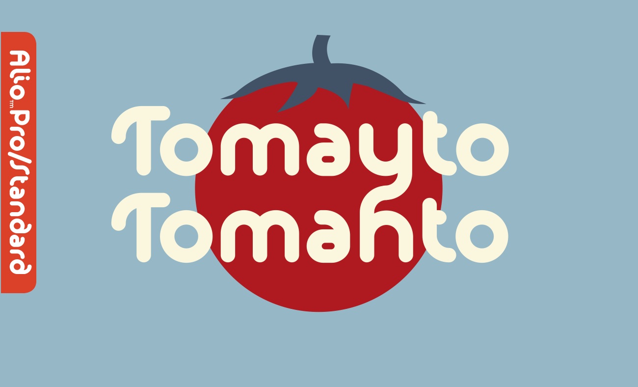 An Alio Standard layout (except the tomato graphic)