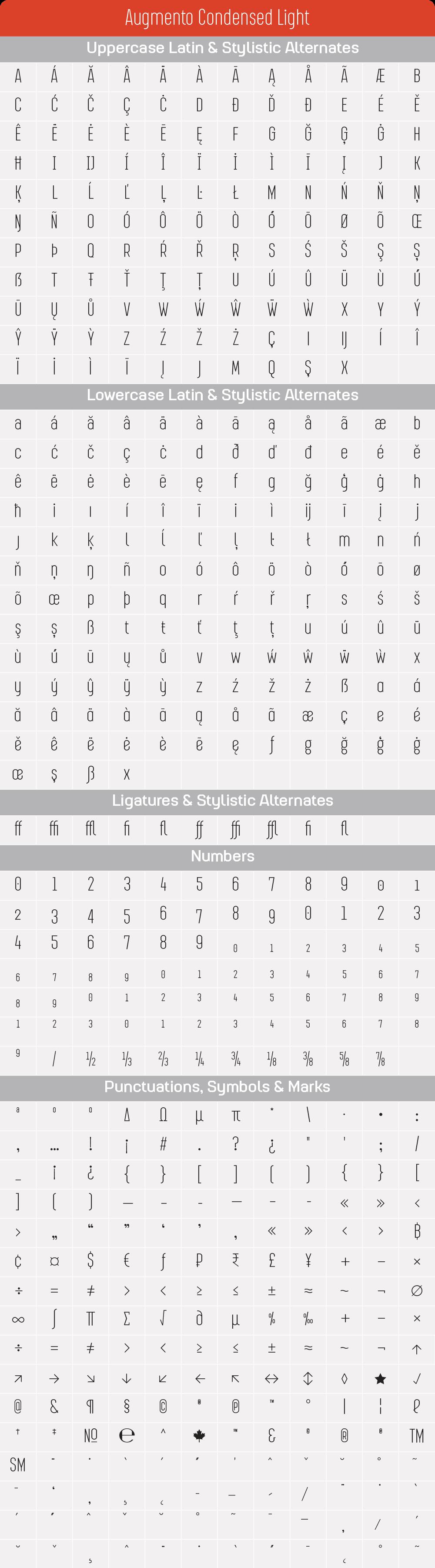 Condensed LightAugmento-GlyphTable.png