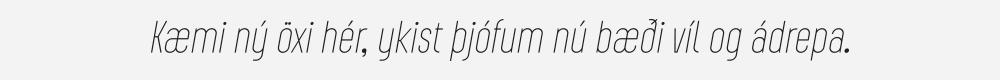 Augmento Condensed Thin Italic