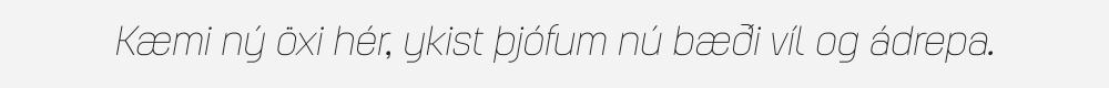 Augmento Normal Thin Italic