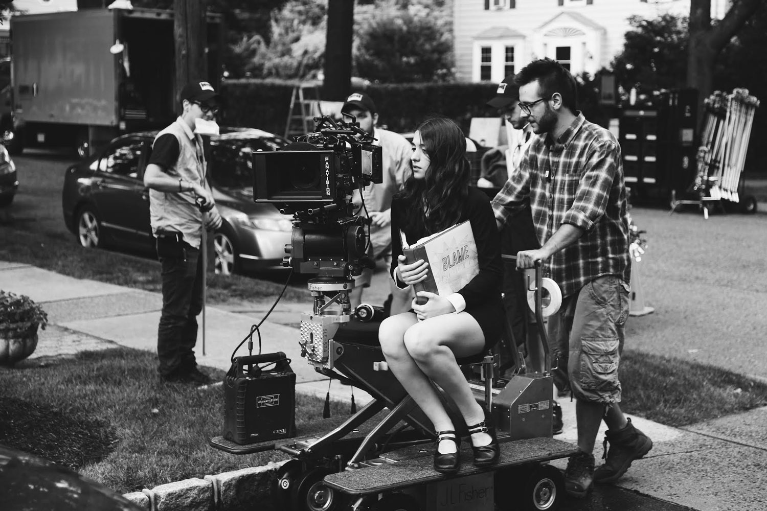Behind the scenes of  Blame . Photo courtesy of Sean Rogen