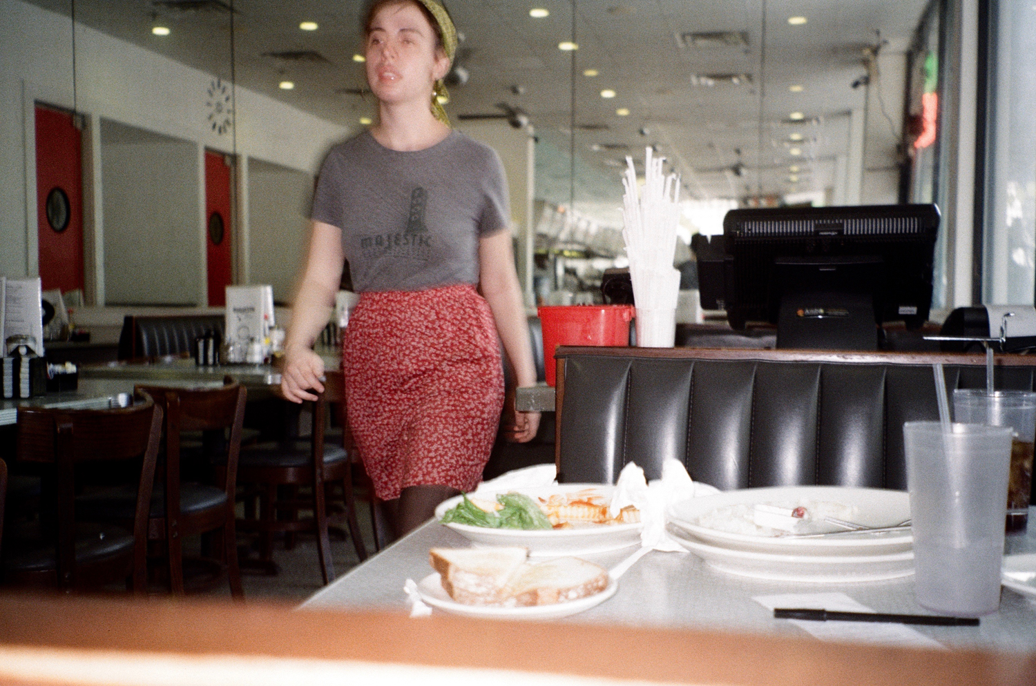 I go to a 24-hour diner to do work one day and keep returning like I'm a local; developing temporary habits feels semi-luxurious, like slipping into a new, silky skin. -