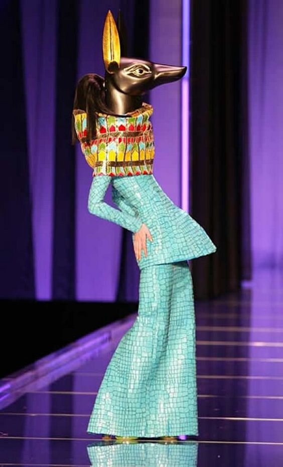 For Christian Dior Haute Couture Spring 2004, Stephen designed cat and jackal masks as well as masks of Tutankhamen and the Egyptian gods of Horus, Anubis and Bast.