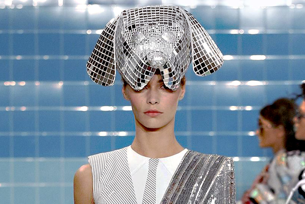 Disco Hector hat for Thom Browne, Spring '17