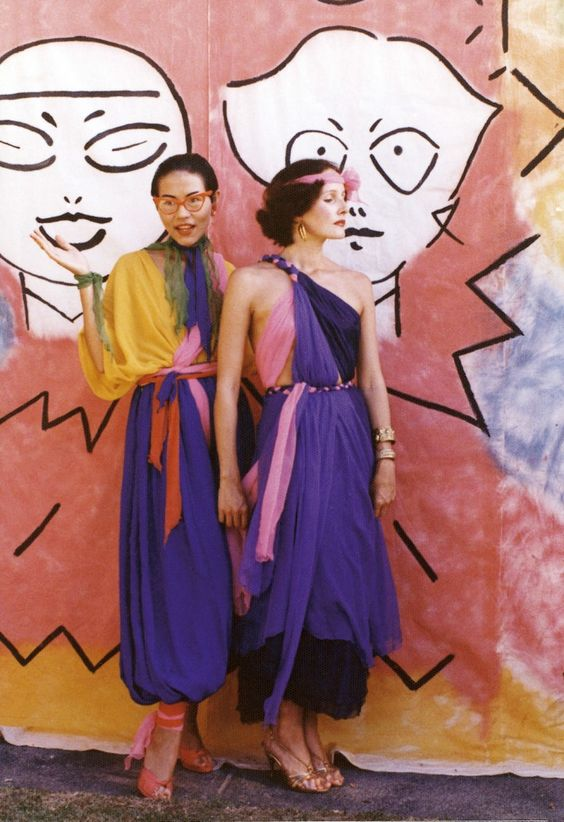 Jenny Kee & Linda Jackson, Bondi Pavillion, Sydney photo Tim Poarter 1975