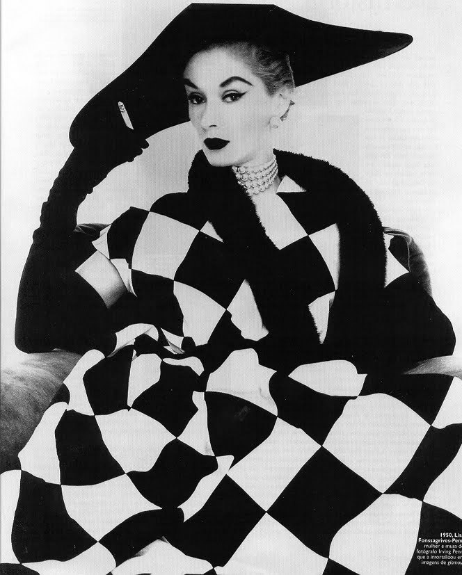 Lisa Fonssagrives-Penn, Harlequin Dress © Irving Penn, 1950