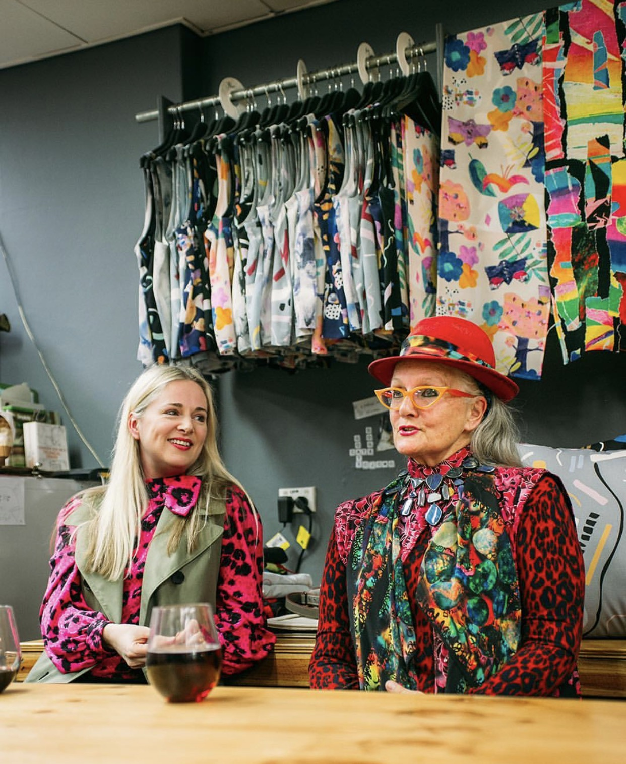 Clare discusses the project with Linda Jackson at The Social Outfit in 2017