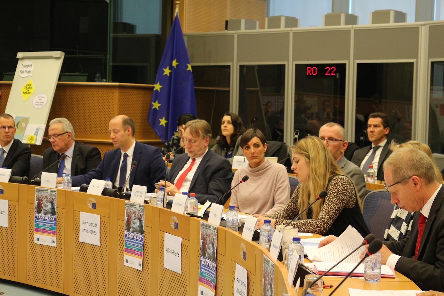 Sarah Ditty at the European Parliament