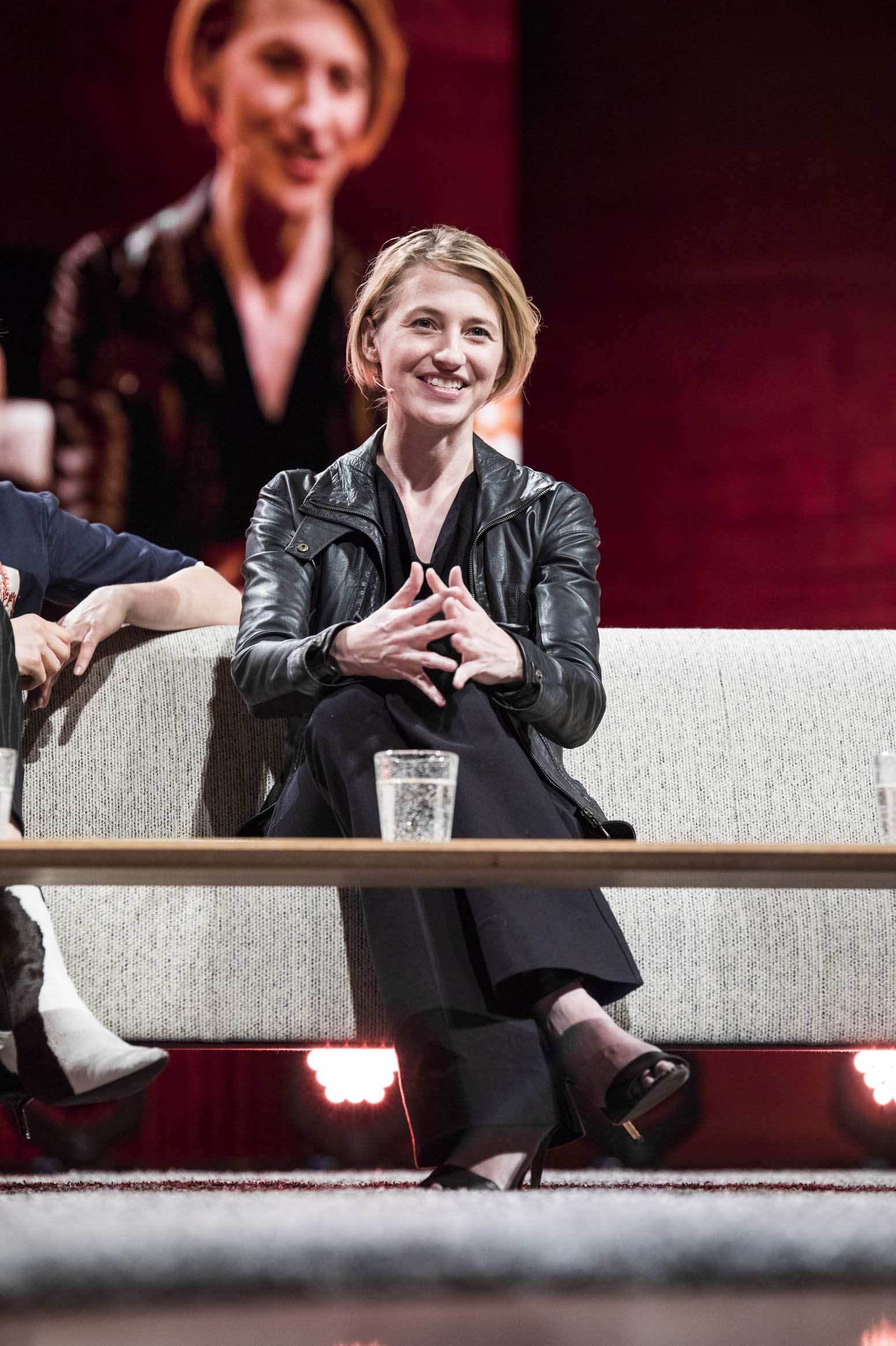 Sara speaking at the Copenhagen Fashion Summit