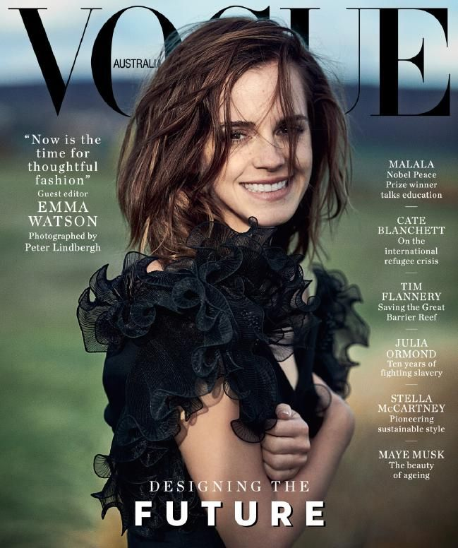 Emma Watson covers the March 2018 issue of Vogue Australia