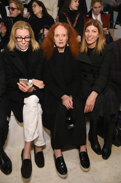 Always in VOGUE: Tonne Goodman, Grace Coddington & Virginia Smith doing the black thing at a Ralph Lauren show, 2018
