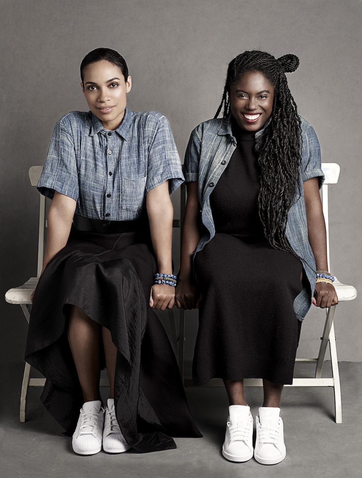 Rosario Dawson & Abrima Erwiah, photographed by Joshua Jordan