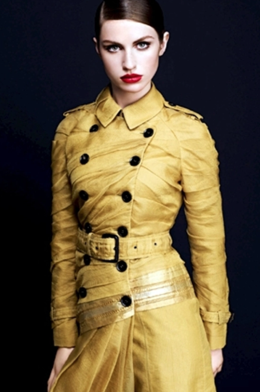 Burberry's Maheshwari fabric trench for Project Renaissance for Vogue India