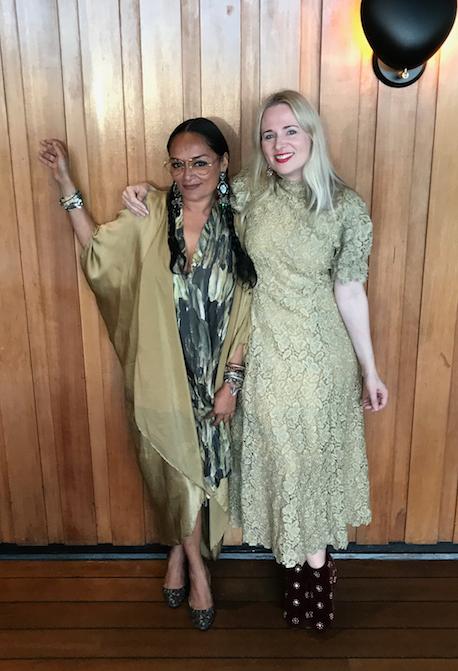 Bandana and Clare at the Copenhagen Fashion Summit celebration dinner, 2019
