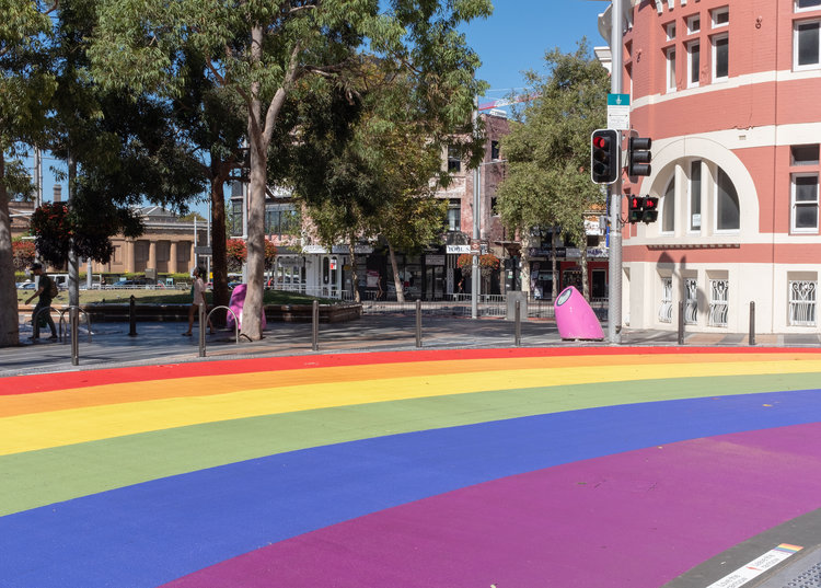 Sydney's rainbow crosswalk in Darlinghurst