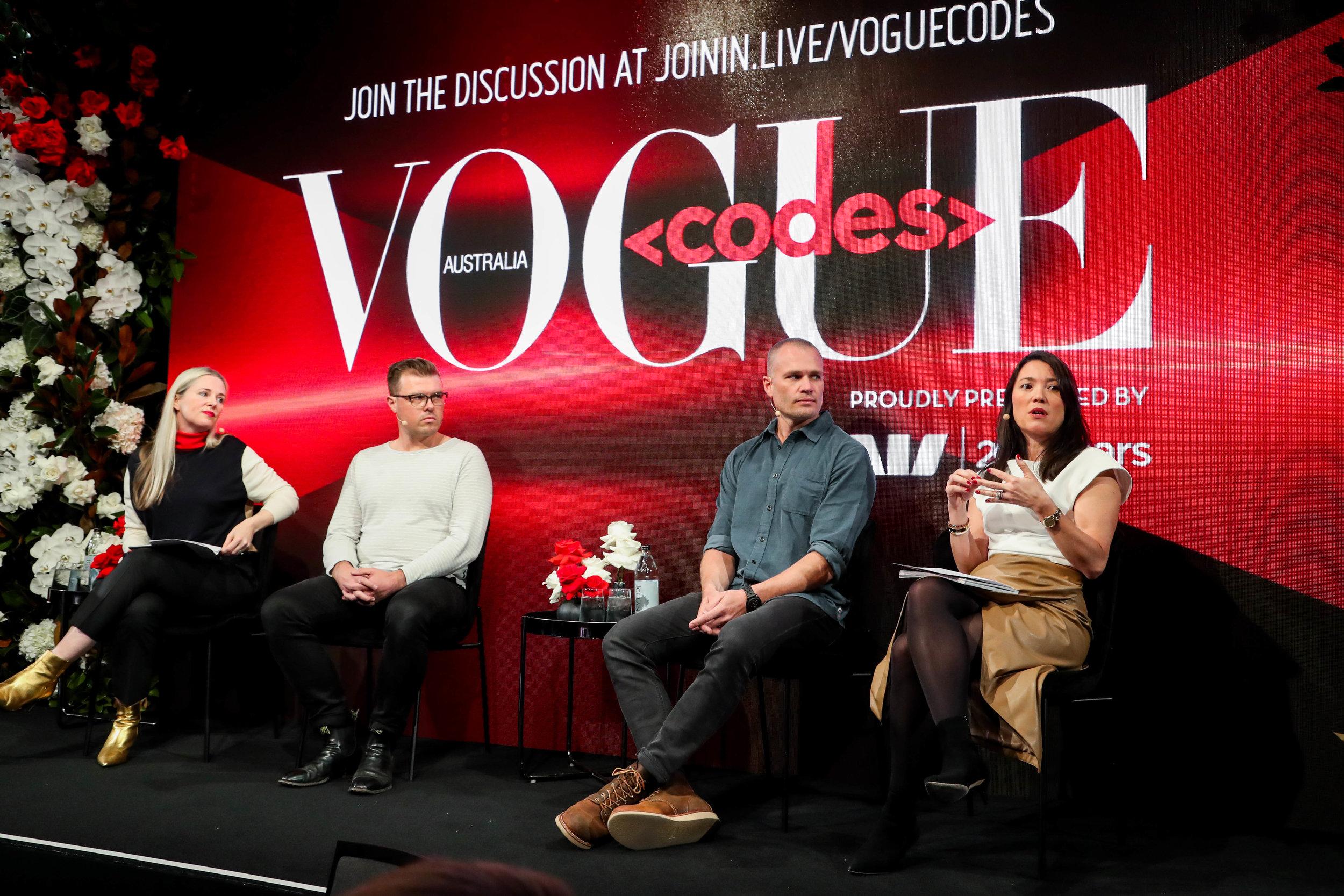 Moderating at Vogue Codes, June 2019
