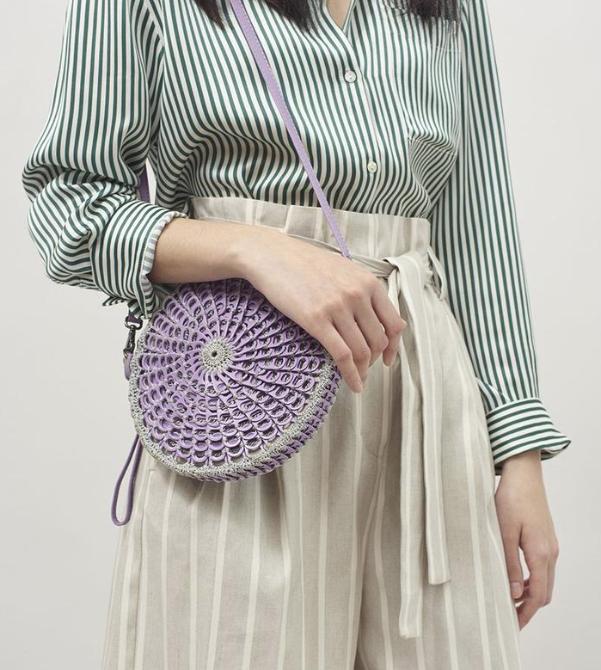 Bottletop's  Helena Enamel bag  in Lavender