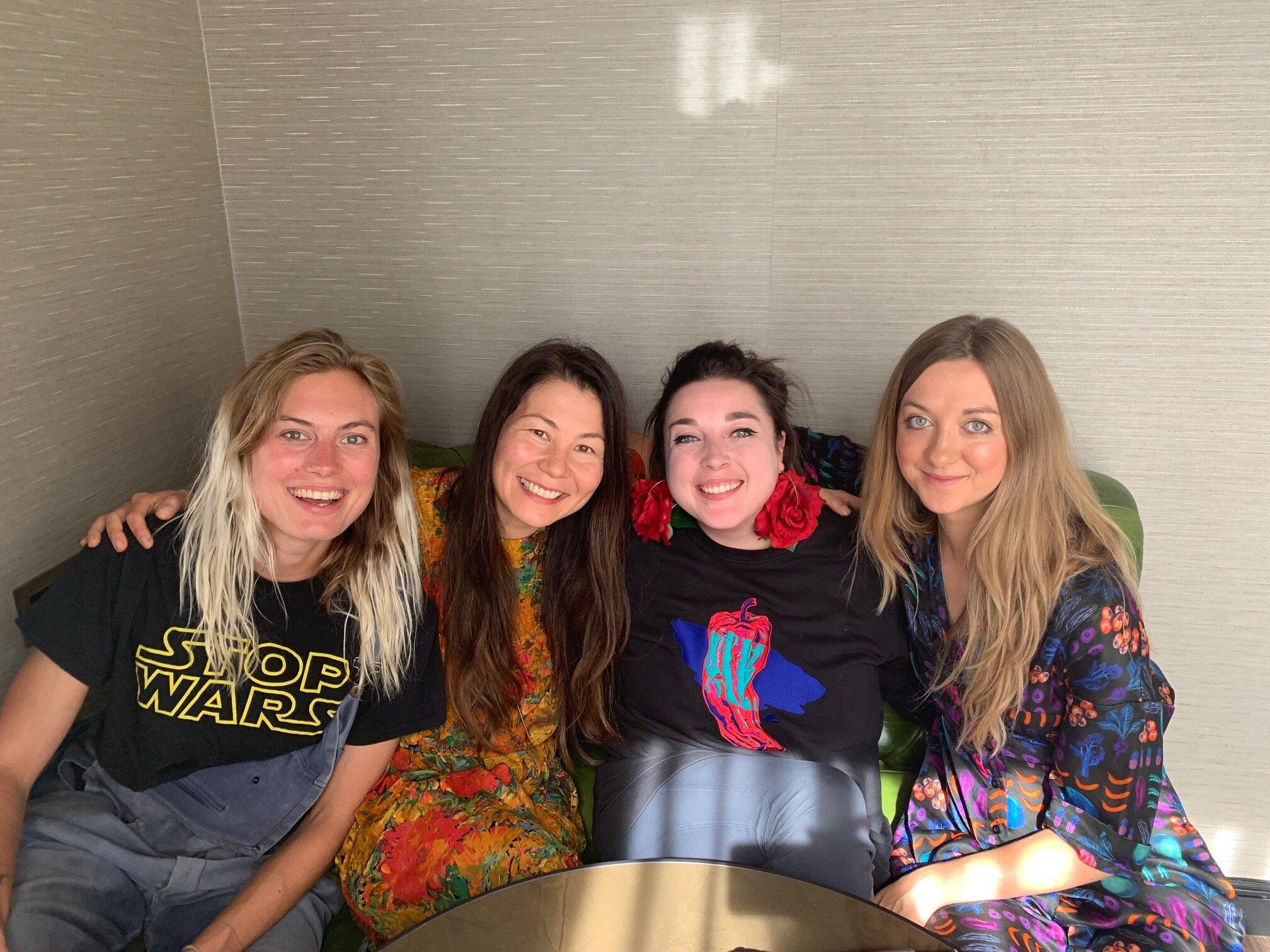 Left to right: Abi Aspen Glencross, Sara Kiyo Popowa, Sophie Dunster, Lauren Lovatt