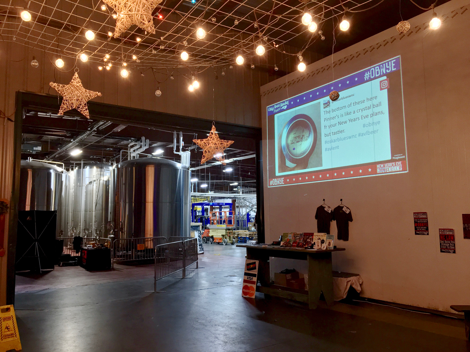 Oskar Blues New Year's Eve Countdown Projection