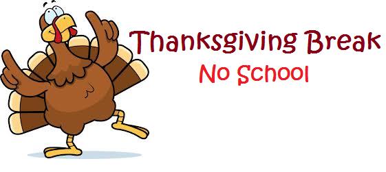 Riverwalk Academy will be closed November 20 - November 24 for Thanksgiving Break
