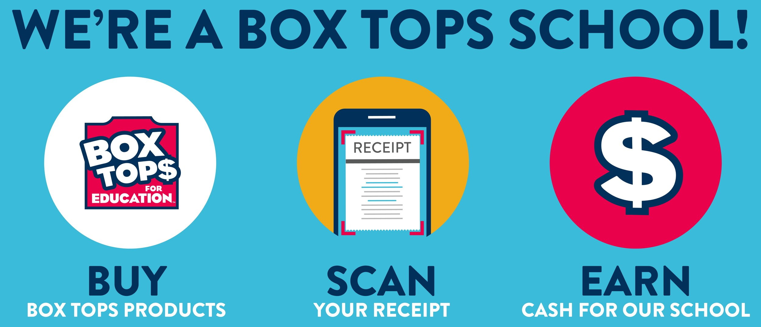 We're a Box Tops School!  For over 20 years, Box Tops for Education has given families an easy way to earn cash for their school, with products they already buy. Now you can simply scan your store receipt with the Box Tops mobile app ( Android / Apple ) to identify participating products and instantly add cash to Riverwalk Academy's earnings online. The older style clippable tops can be submitted for redemption in the front lobby. For more information, participating products, contests, and more, visit  Box Tops 4 Education's Website .