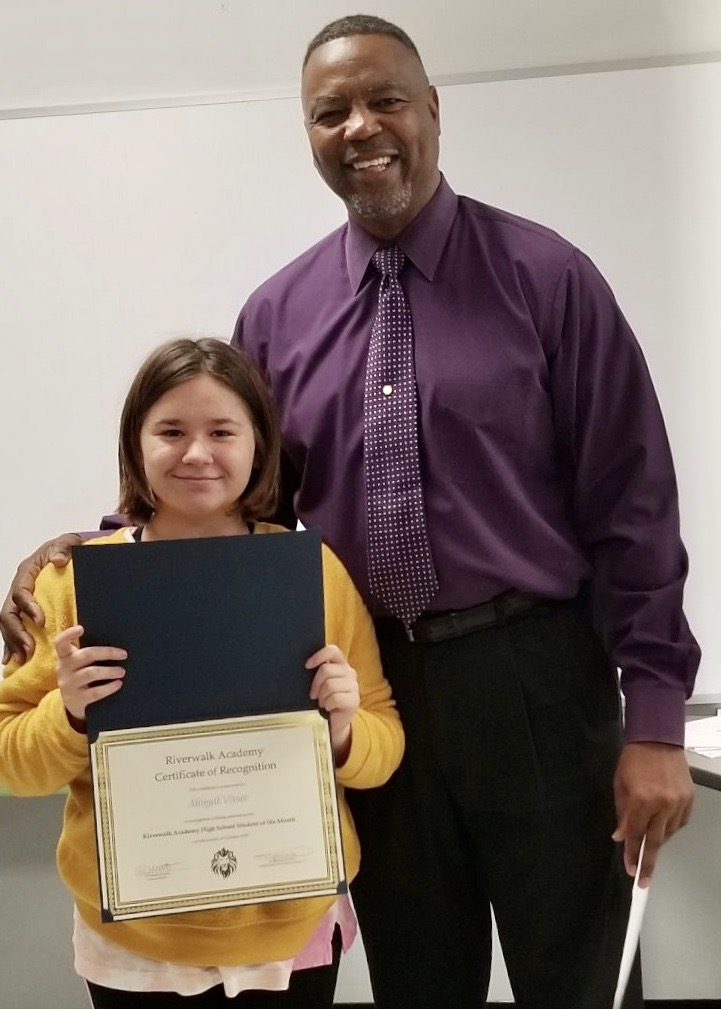 Abigail Vivas, October 2019 High School Student of the Month