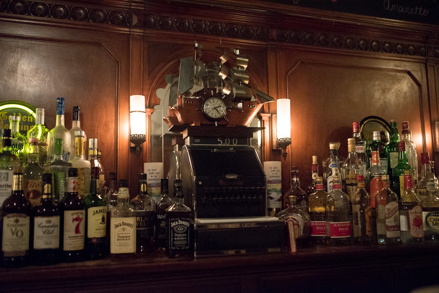 The Crystal's bar is gorgeous. Complete with a vintage working cash register! Photo : Michelle Kinney