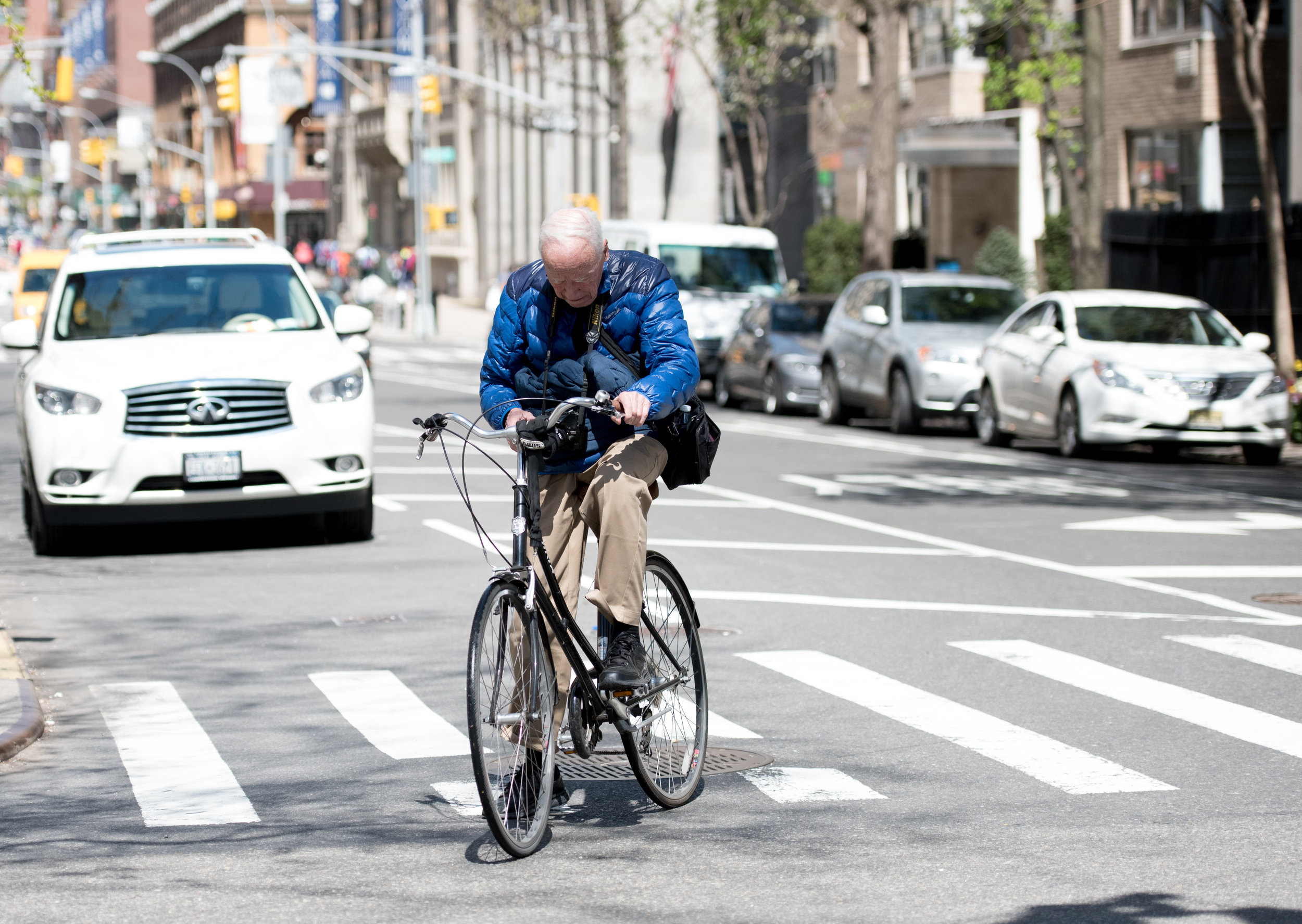 And then we spotted famous NY Times Photographer Bill Cunningham on his bike coming down Lexington Avenue.