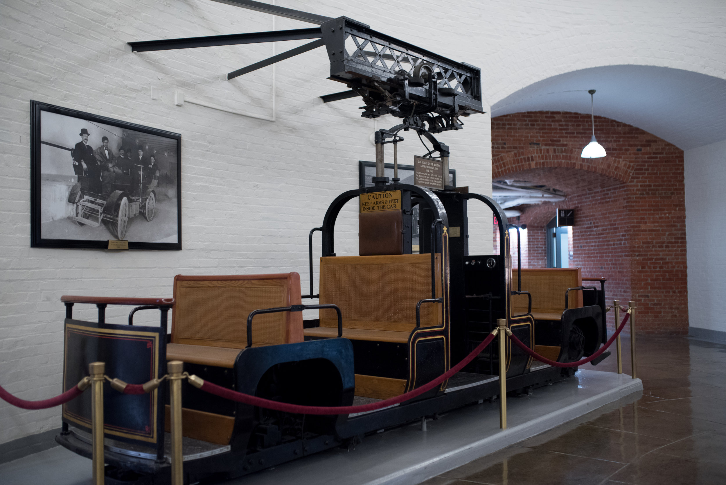 Original monorail cars that operated from 1915 to 1961.