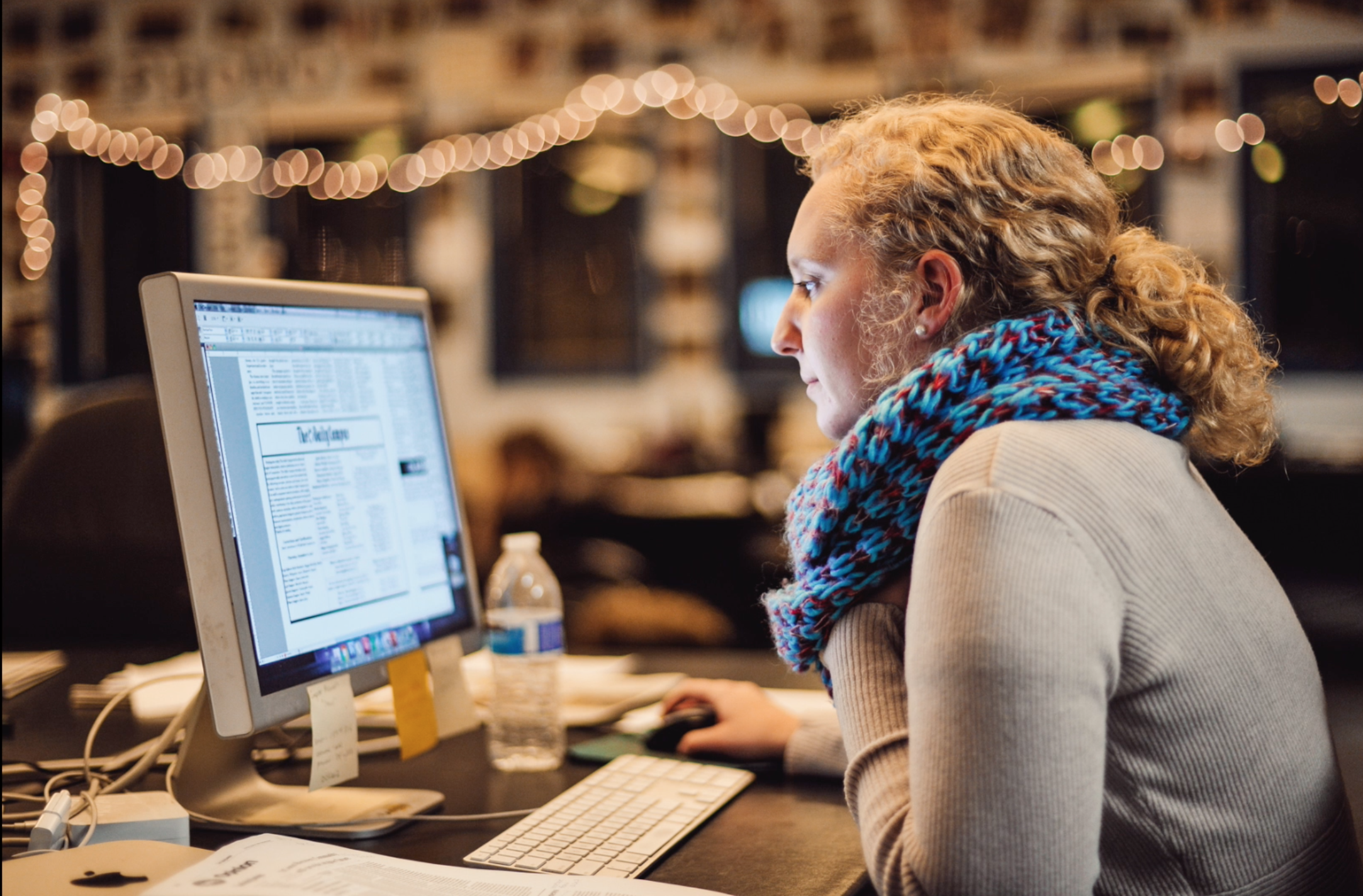 Bailey Wright working at The Daily Campus in 2016. (Photo by Jason Jiang)