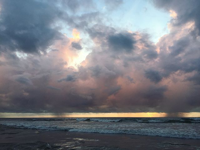 A stormy sunrise this morning. 🔱