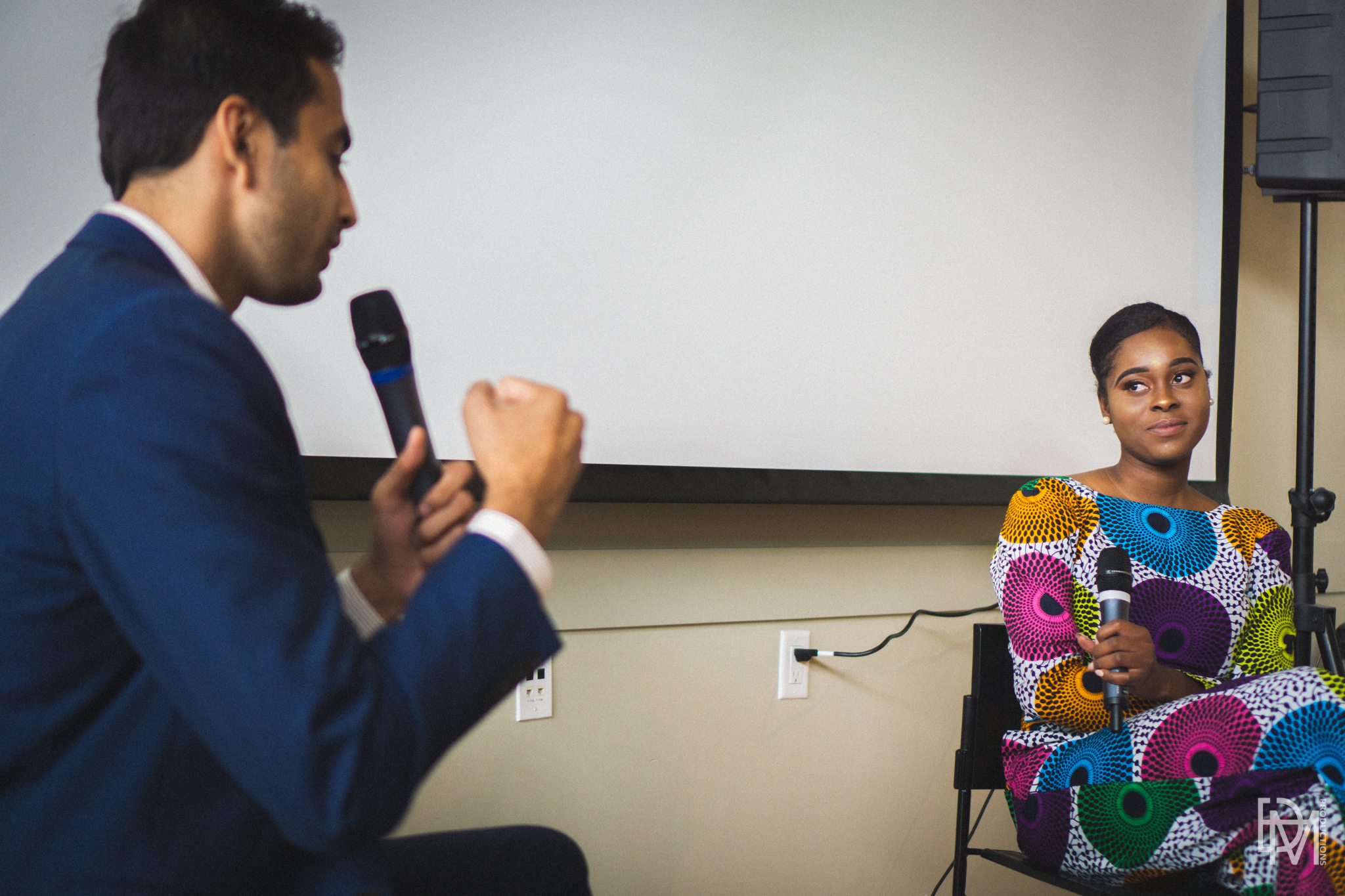 Khan and I having a live conversation on addiction with the audience