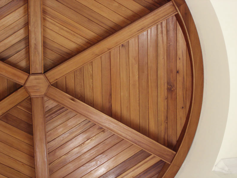 Old Growth Cypress Segmented ceiling