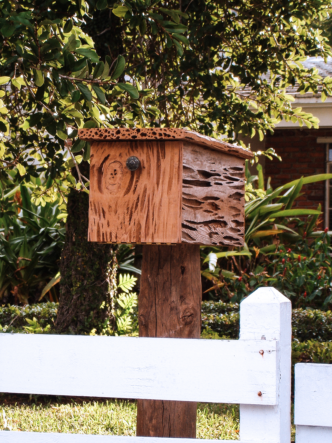 Old Growth Pecky Cypress Mailbox
