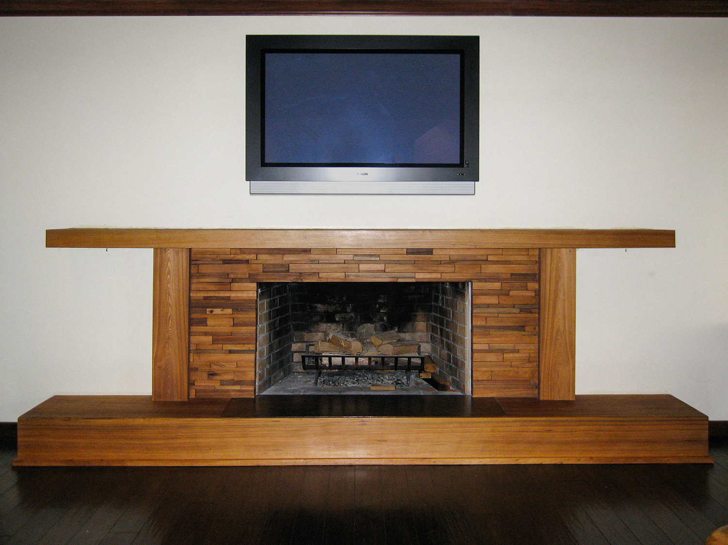 Old Growth Solid Cypress Fireplace