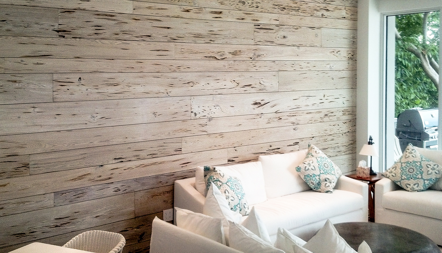 Old Growth Pecky Cypress Whitewashed Paneling