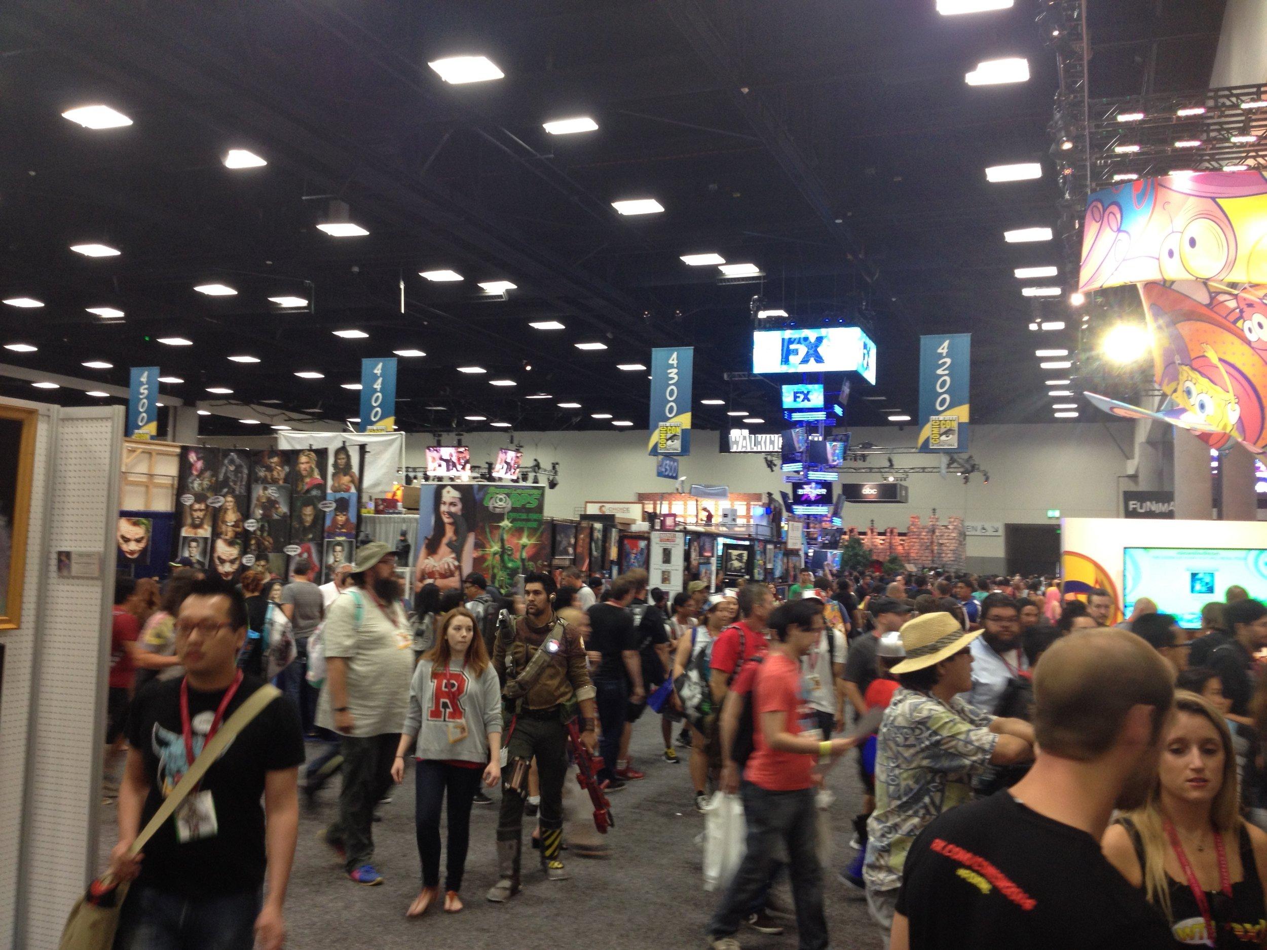 Comic Con exhibit hall