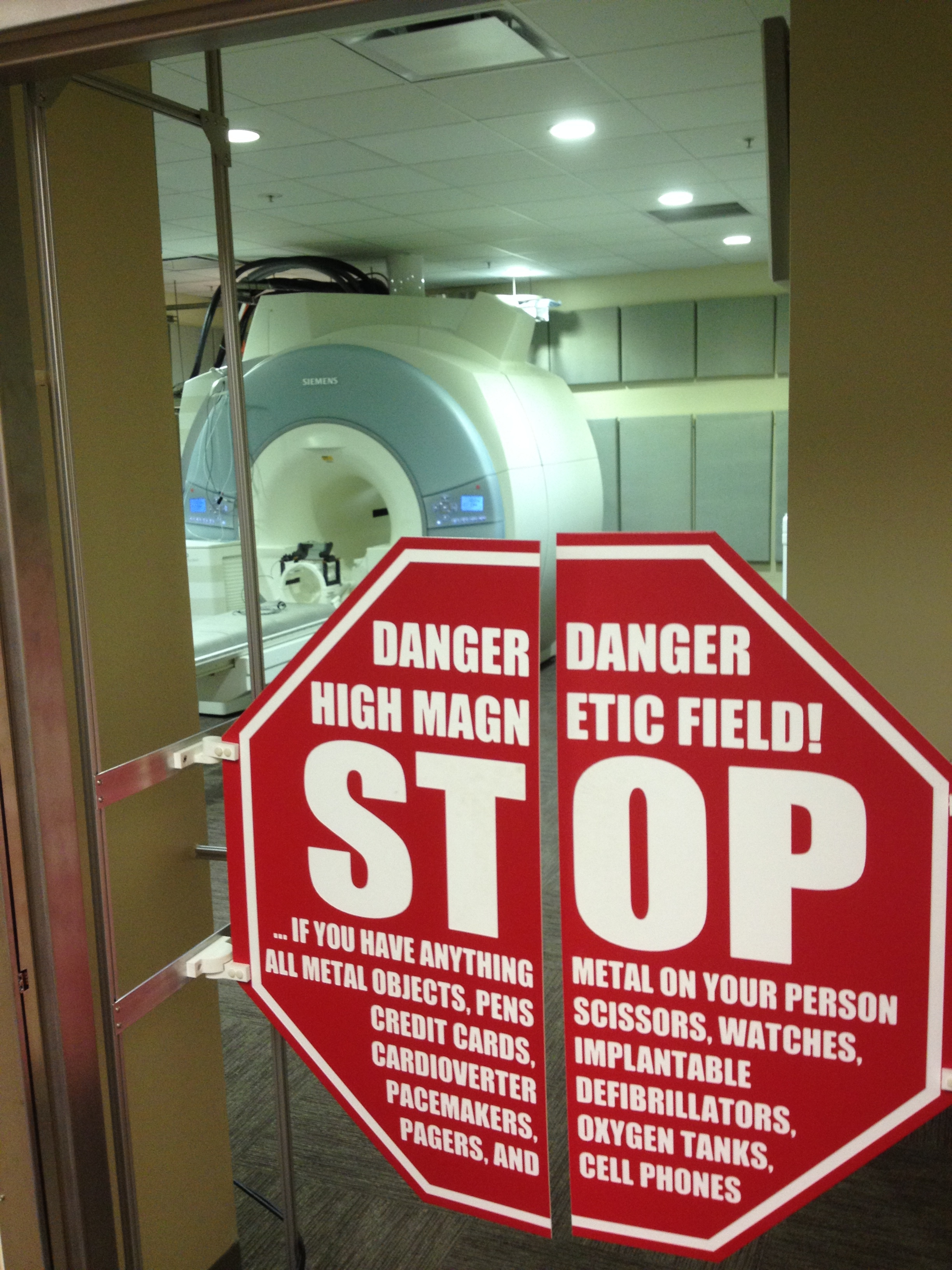 The scary MRI scanner