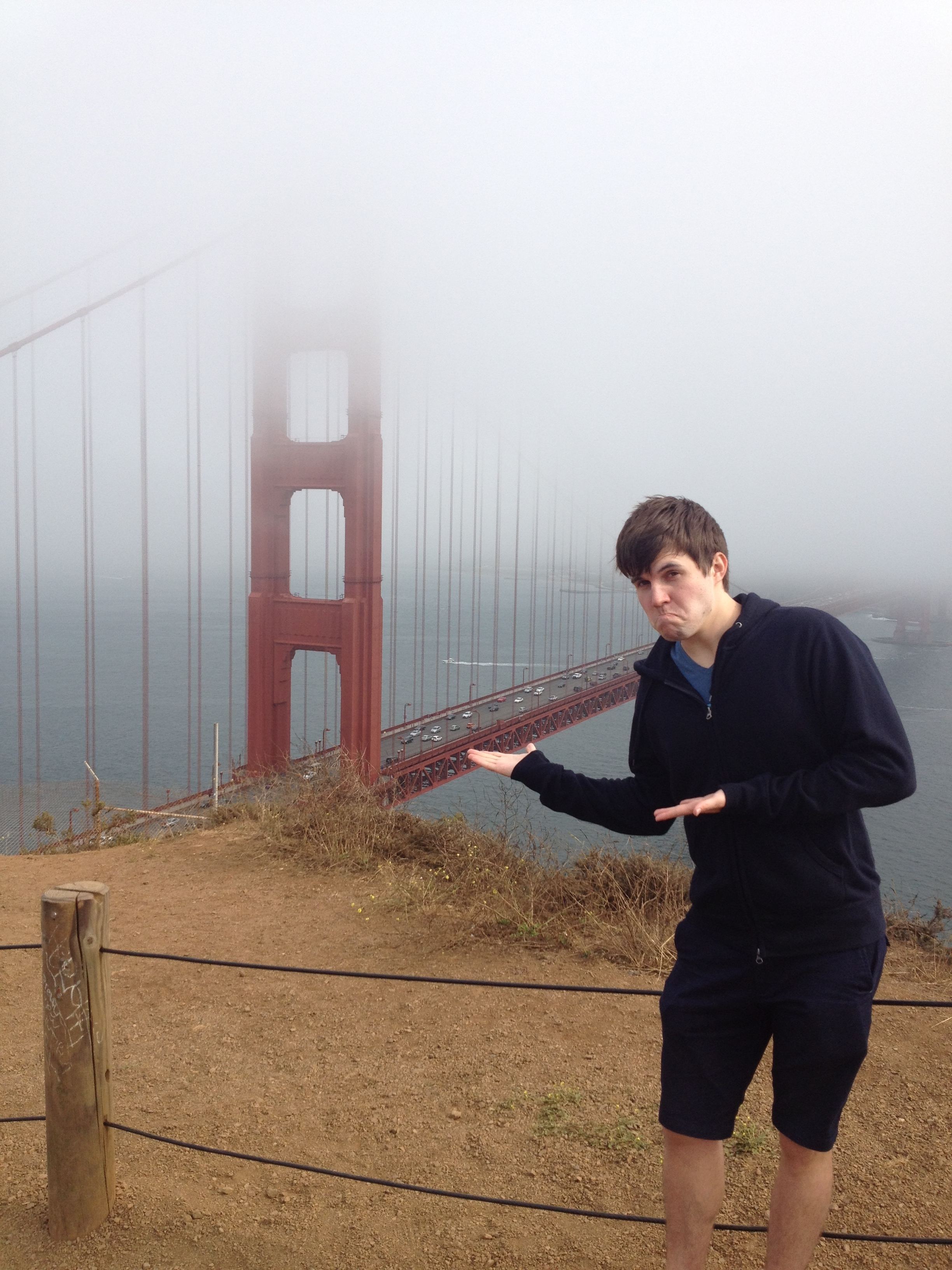 The disappointing Golden Gate bridge