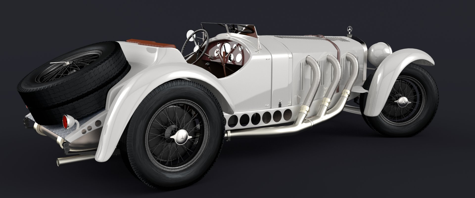 """"""" Mercedes Benz SSK 1929 """" by ramzy49, modified for this article"""