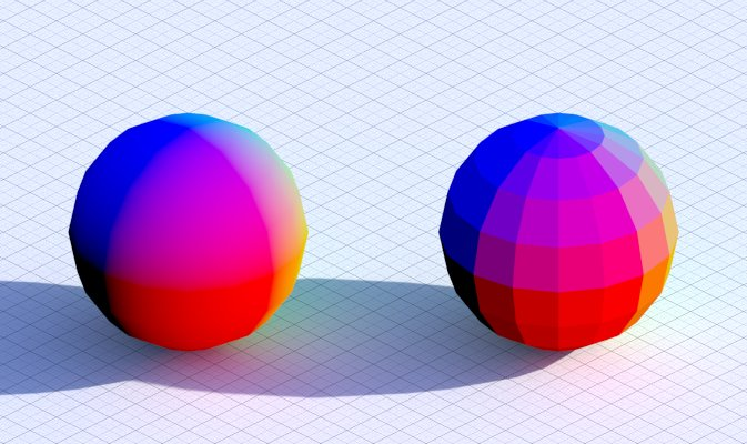 Normal vs True Normal (both objects are smooth-shaded)