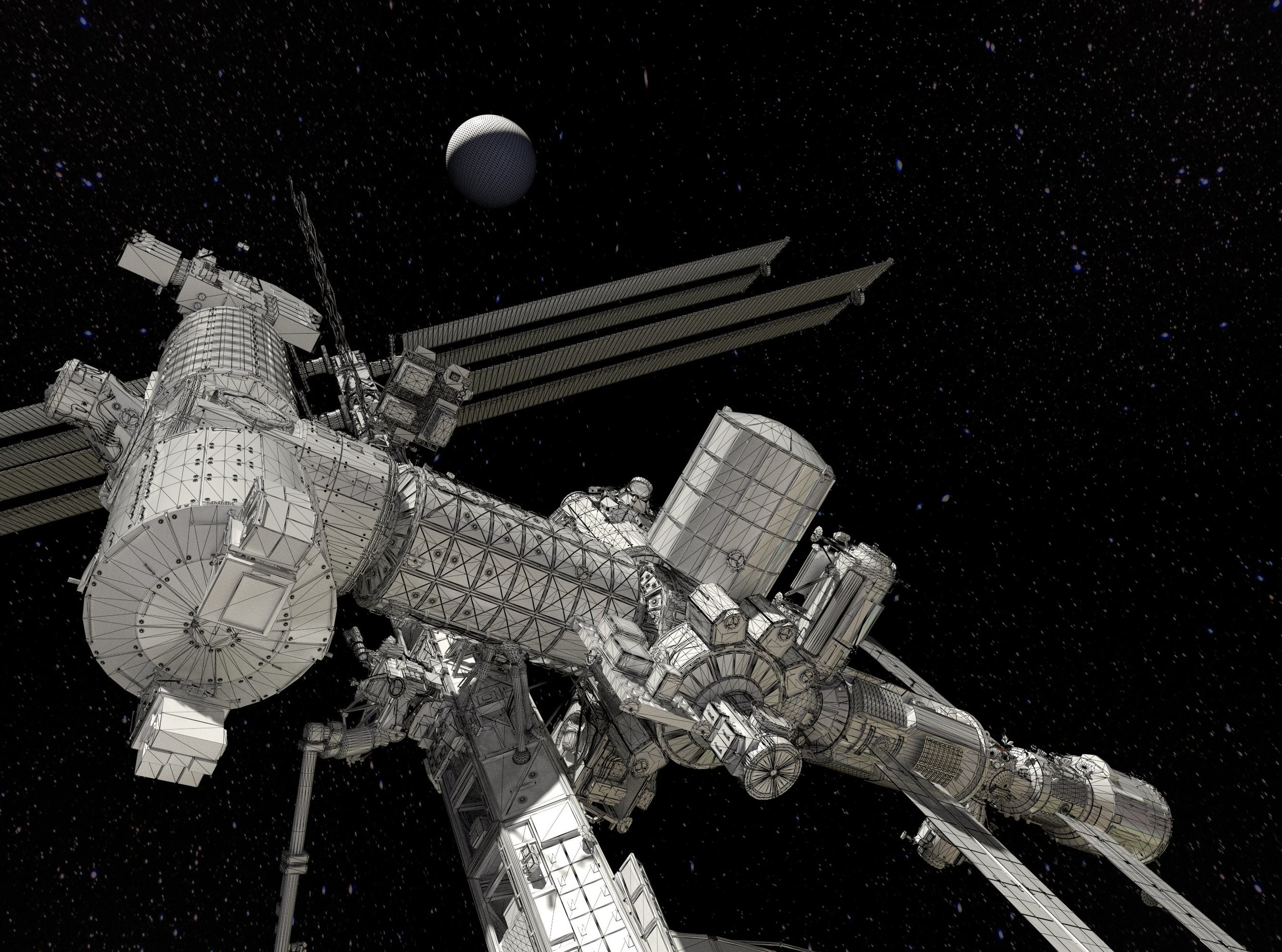 Awesome ISS model by Chris Kuhn