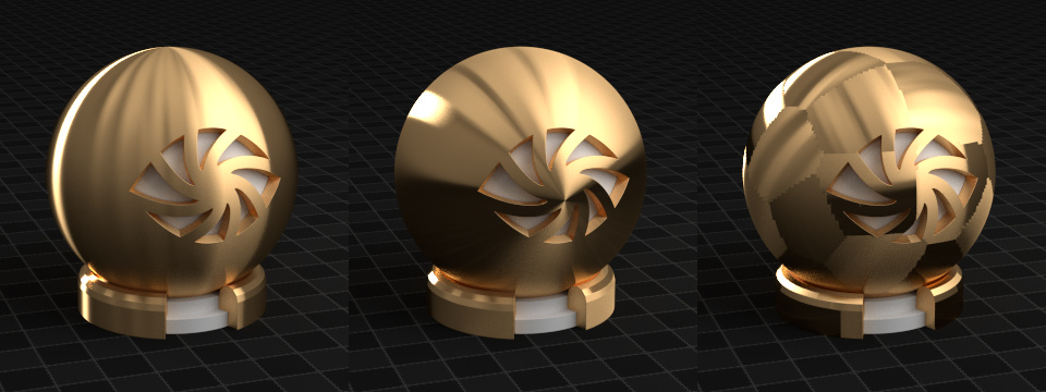Anisotropy with tangents: radial Z, radial Y, UV