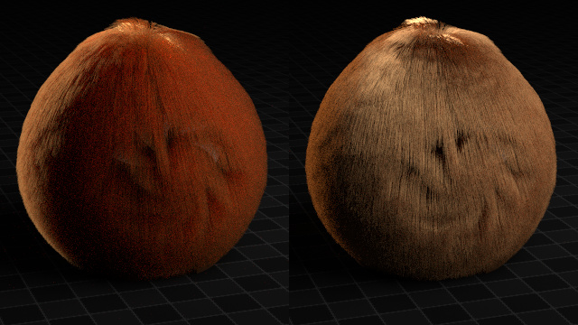 Hair components (transmission vs reflection)