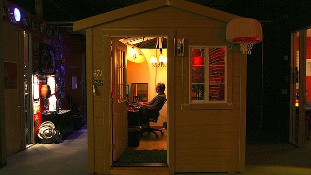 A 'cubicle' at Pixar Studios