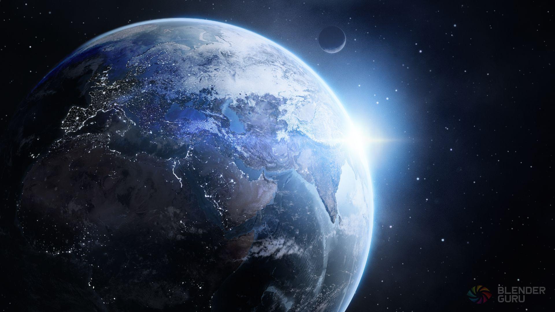 How To Make Earth Cycles Blender Guru