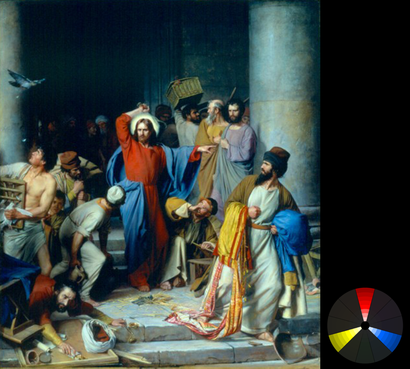 Carl Heinrich Bloch – Casting out the money changers (from ArtRenewal.org)