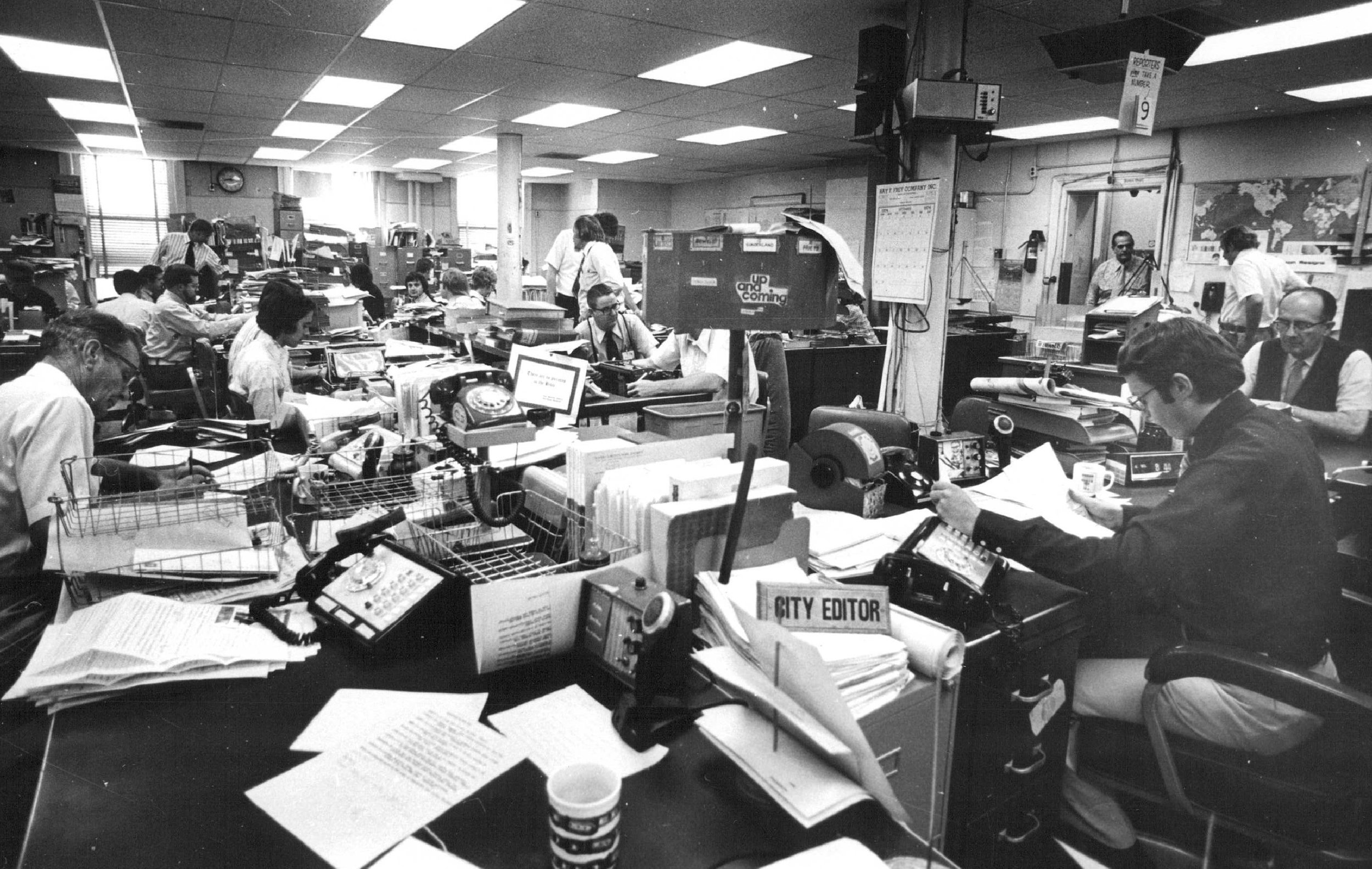 Boston Tribune newsroom